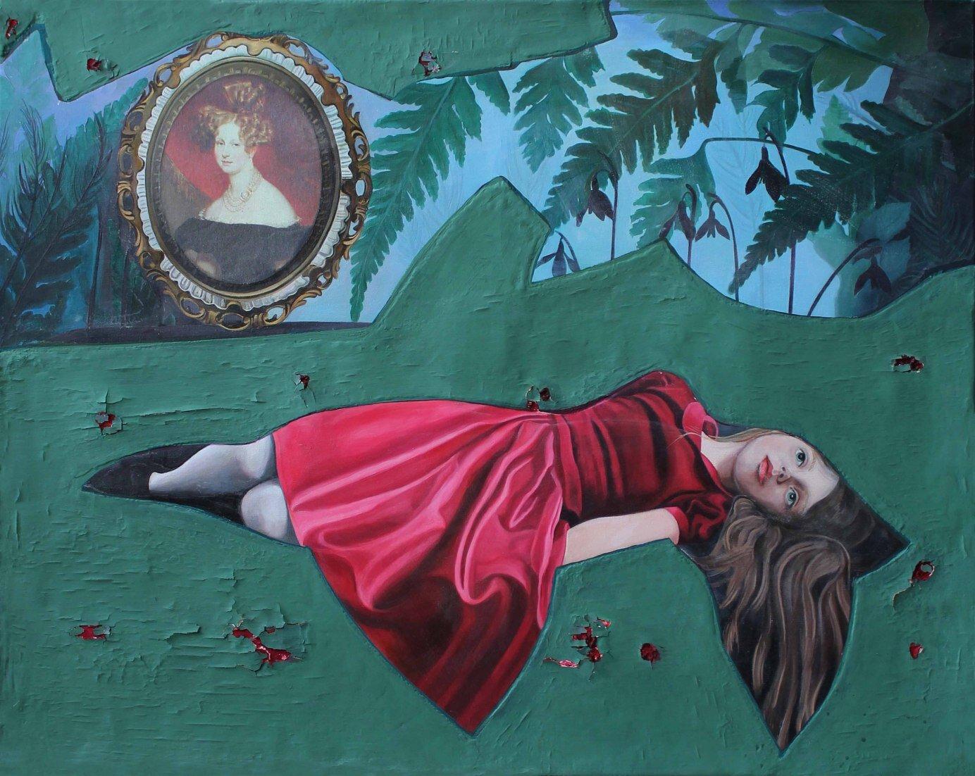 Davalia, 90 x 120 cm, oil on canvas, 2019