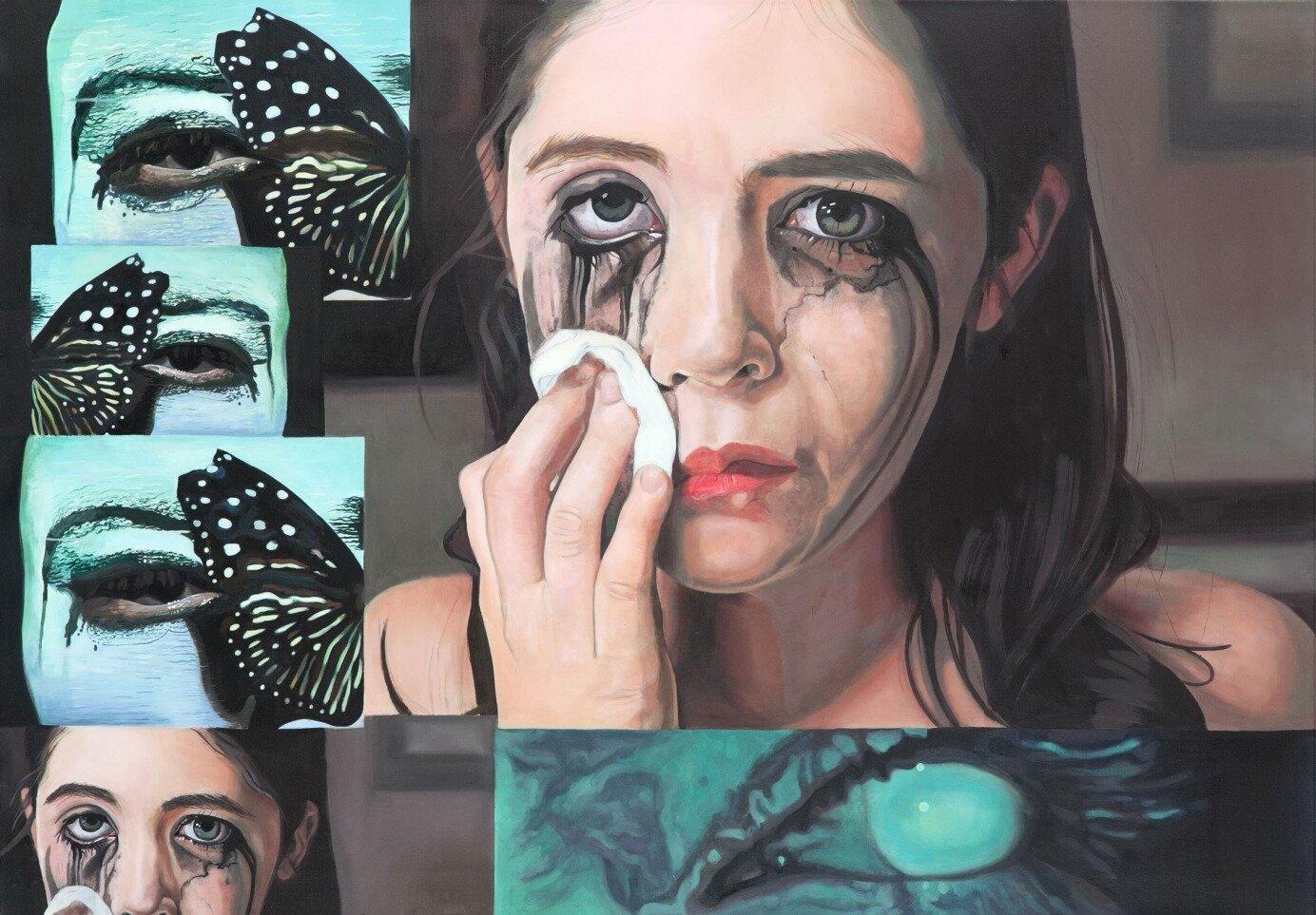 Argus Eyes, 80 x 115 cm, oil on canvas, 2017