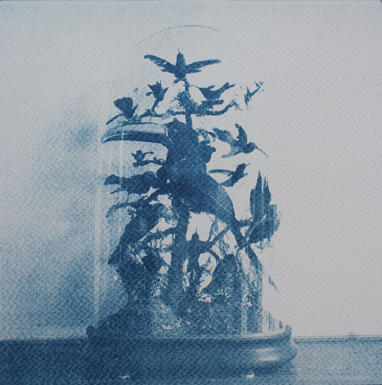 The Hall of Lost Steps ( 7 ), cyanotype, 20 x 20 cm, 2020